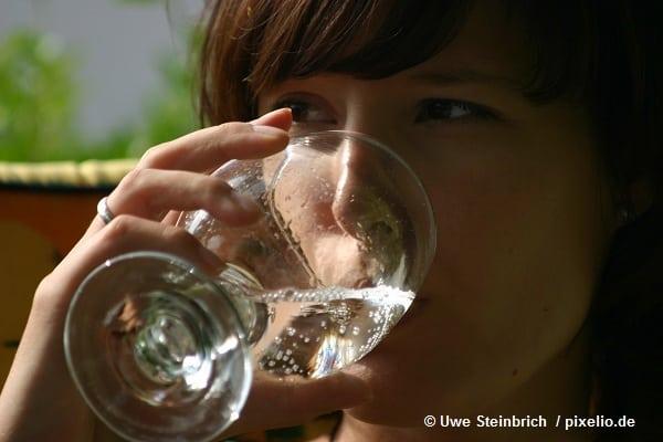 Mineralwasser in der Ernährung. © Uwe Steinbrich / pixelio.de